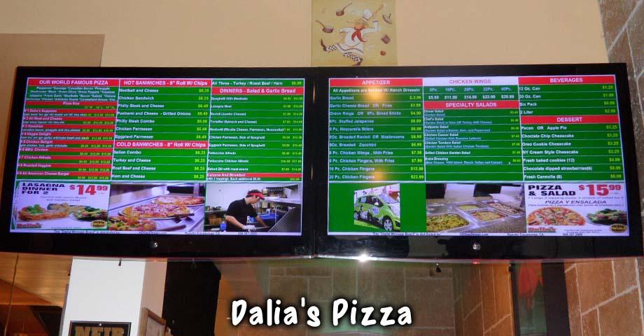 Digital Restaurant Menu Boards Wholesale