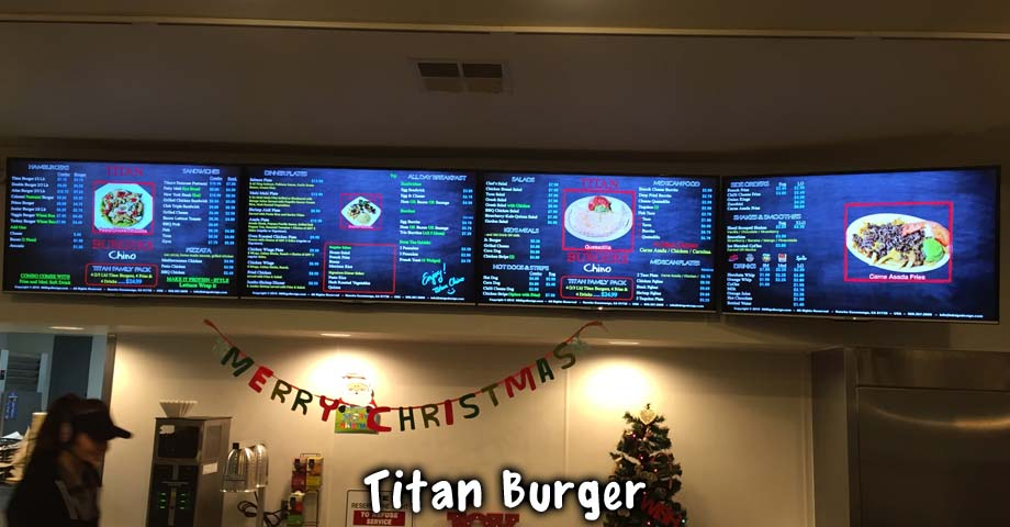 HD Sign Design Digital Menu Board